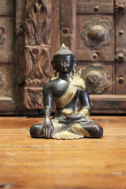 Buddha in Meditation Pose in Deep Bronze & Golden Finish <b>SOLD<b>